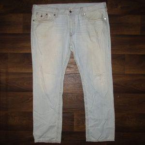 True Religion Jeans Distressed Slim Light Big T 46